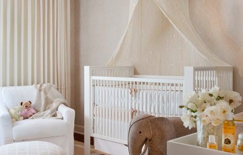 Neutral Nursery Decor Ideas Painted in Ivory Scheme Balanced by White to