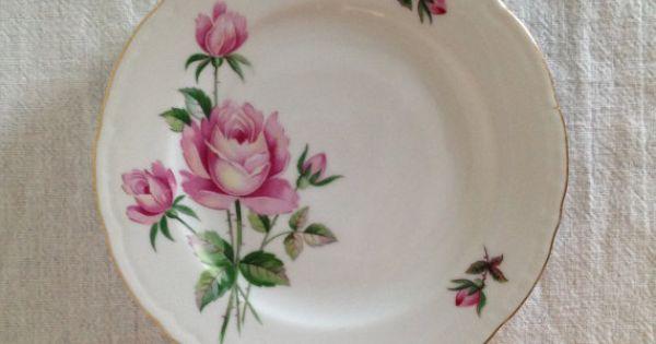 Czechoslovakia Dish Set Antique Vintage Shabby Chic Rose