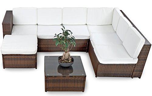malibu poly rattan lounge braun aluminium sofa garnitur polyrattan gartenm bel. Black Bedroom Furniture Sets. Home Design Ideas