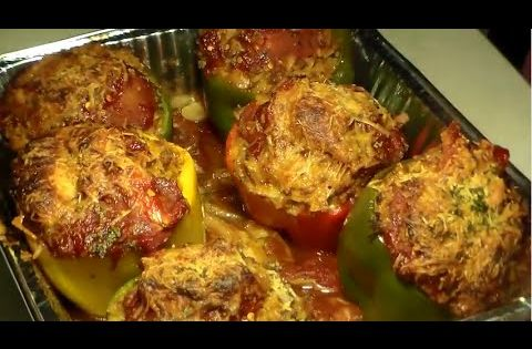 how to make stuffed green peppers with ground turkey