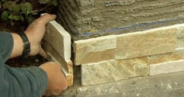 How To Cover A Concrete Wall With Stone Veneer This Old House Stone Veneer Concrete Retaining Walls Concrete Wall