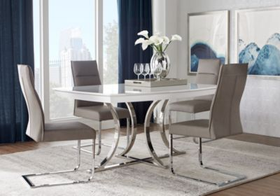 Powell Halsey 5 Piece Dining Table Set Dining Table Setting
