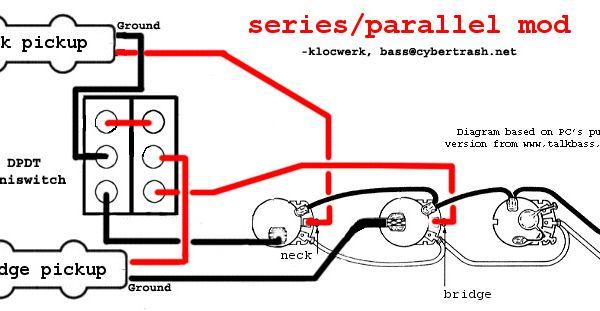 series parallel wiring diagram bass guitar pinterest jazz bass and s mod. Black Bedroom Furniture Sets. Home Design Ideas