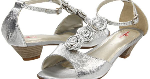 Ortopasso Kids 1805 Toddler Youth Silver Bridesmaid Shoes Flower Girl Shoes Girls Shoes