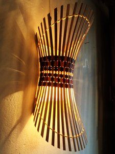 new styles 4fede 39b7f Amazon.com: Handmade Bamboo Light Shade, Wall Sconce: Home ...
