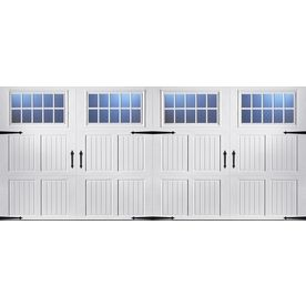 Pella Carriage House Series 192 In X 84 In Insulated White Double Gara Garage Doors Double Garage Door Carriage House Garage Doors