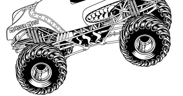 Monster Jam Coloring Pages Kid