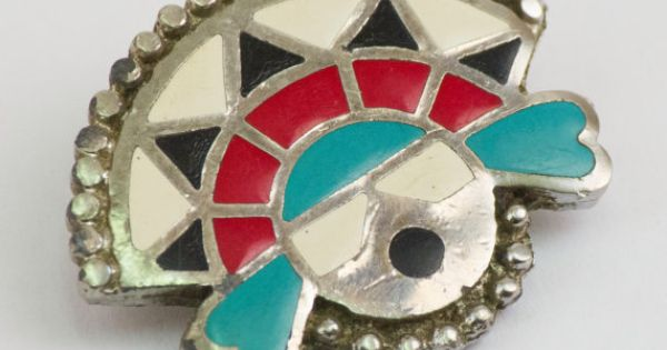 Vintage Bolo Tie Clip Southwestern Indian Scarf by CuffsandClips, $21.80