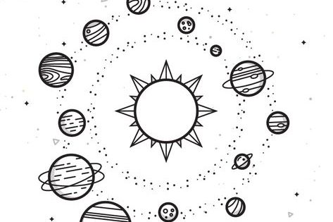 Solar System Planet Drawing Space Drawings Easy Drawings