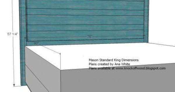 Reclaimed Wood Look Headboard King Size Diy King Size Headboard Headboard Plan Diy King Headboard