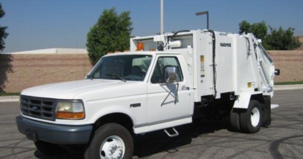 1996 Ford F Super Duty Garbage Truck With Wayne 6 Yard