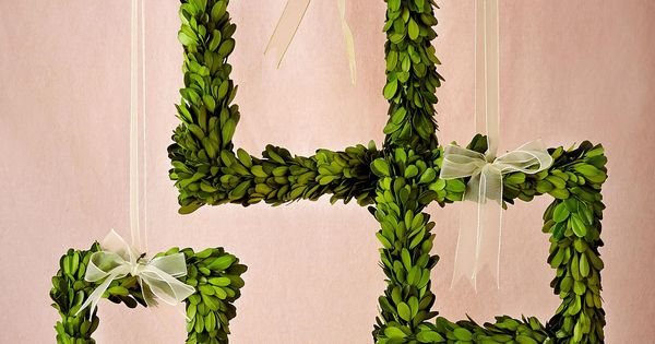 Boxwood Wreath Frames Set Of 3 From Bhldn Wedding