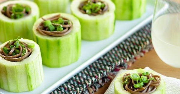 Cucumber cups, Appetizers and Cups on Pinterest
