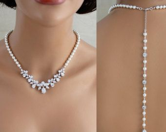 Pearl Drop Necklace /& Earrings Jewellery Set Bridal Bridesmaid Wedding Gift 40A