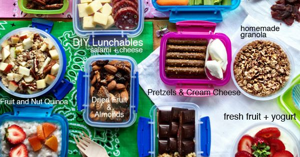 100+ Healthy, Delicious & Easy Lunchbox Snacks on FamilyFreshCookin... © MarlaMeridith projectlunchbox