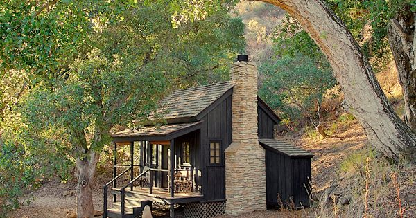 Tiny timber frame cabin google search rustic modern for Cabin kits northern california