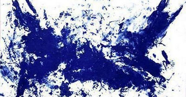 yves klein la grande bataille 1962 pigment bleu sur papier maroufl sur toile 286 x 371. Black Bedroom Furniture Sets. Home Design Ideas