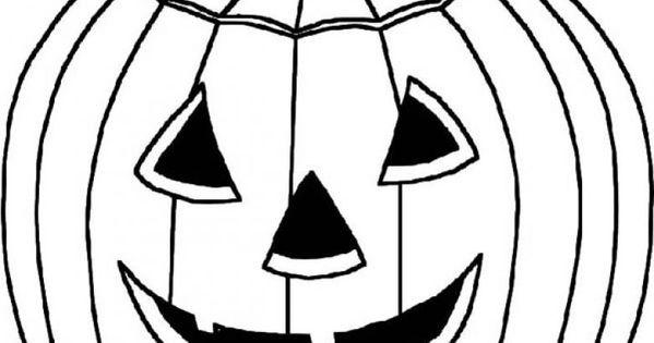 halloween ausmalbilder kürbis 05  halloween  pinterest