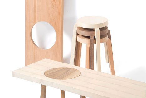 IDEA wooden bench or coffee table / Hockerbank by Johanna Dehio