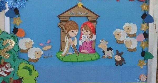 Periodico mural diciembre preescolar buscar con google for Mural navideno