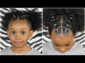 Easy 20 Minute Rubber Band Hairstyle Pinterest Inspired Hairstyle Youtube Naturalhairs Toddler Hairstyles Girl Curly Girl Hairstyles Kids Curly Hairstyles