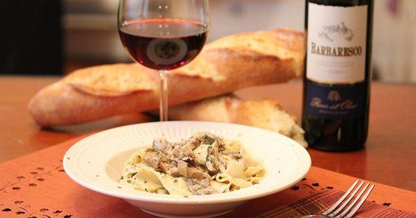 Pappardelle with Mushroom Sauce | Pasta | Pinterest | Mushroom ...