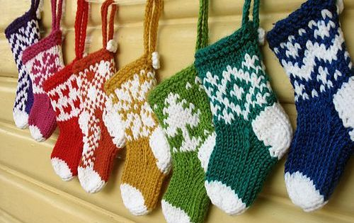 Christmas Stocking Knitting Pattern Ravelry : Ravelry: Mini Christmas Stocking Ornaments pattern by ...