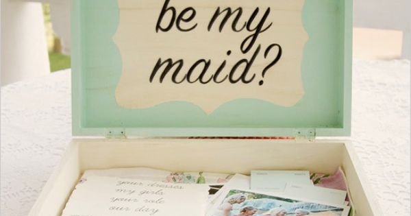 DIY Bridesmaid box. So cute!