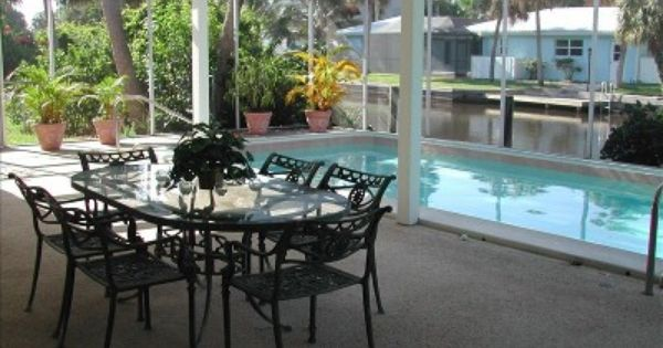 Enclosed Pool Area Pergola With Roller Blinds Pool Patio Dream Backyard House Exterior