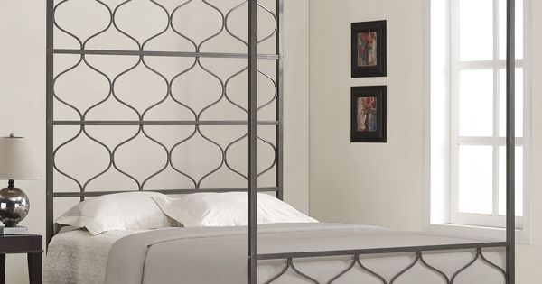 This one of a kind metal canopy bed is both elegant and for One of a kind beds