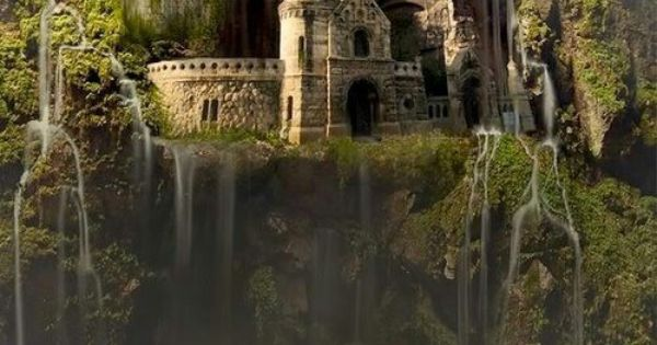 Waterfall castle, the Enchanted Forest | Mystical, fantasy ...