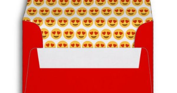 Heart Eyes Emoji Valentine 39 S Day Card Envelope Valentines