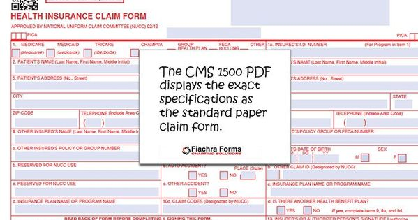 28 Cms 1500 Form Download In 2020 With Images Doctors Note