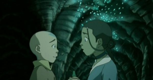 Aang Katara Under The Crystals In The Cave Of Two Lovers Com