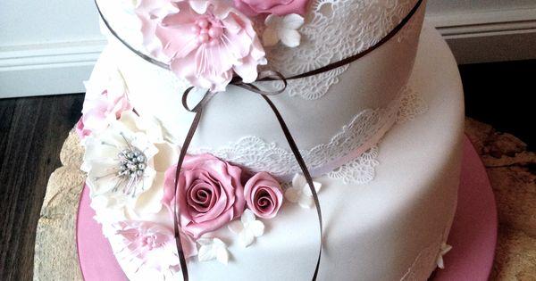Vegane Hochzeitstorte im Vintage-Stil  Wedding Cakes von Tortenschön ...