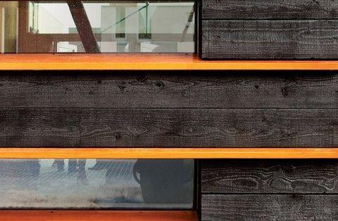 shou sugi ban burned wood for siding farben pinterest fassaden m glichkeiten und dunkel. Black Bedroom Furniture Sets. Home Design Ideas