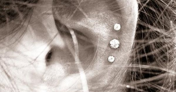 Ear piercing. I did the triple cartilage piercing. I absolutely love it.