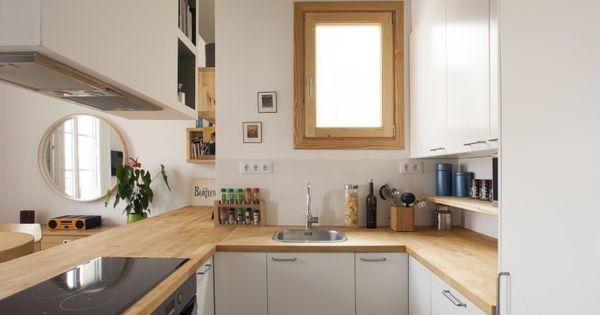 kleine Küche in U-Form mit Halbinsel zum Wohnzimmer | Küche ... | {Küchen u form modern 30}