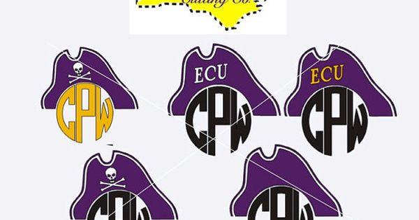Pirate Monogram Ecu Pirates Monogram Decal Carolina