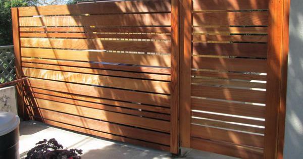 Horizontal Wooden Fences Horizontal Urban Style Fence