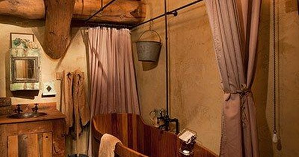 Western Bathrooms Cabin Bathrooms And Westerns On Pinterest
