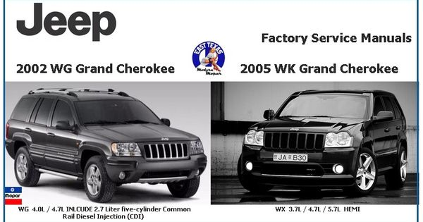 jeep grand cherokee wg 2002 wk 2005 factory service manuals jeep commander jeeps and jeep. Black Bedroom Furniture Sets. Home Design Ideas