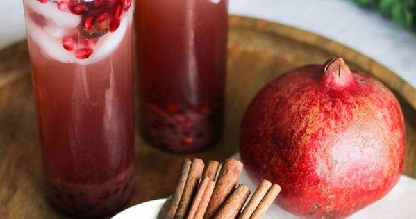 Lemon, Ginger + Pomegranate Sparkler | Recipe