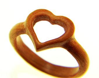 Wooden Carved Heart Ring On Etsy A Global Handmade And Vintage Marketplace Wood Rings Wooden Hearts Hand Carved Wood