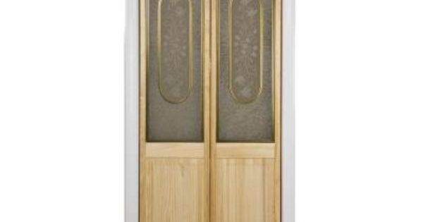 Pinecroft 24 In X 80 In Glass Over Panel Victorian 1 2 Lite Decorative Universal Reversible Interior Wood Bi Fold Door 872120 The Home Depot Cheap Interior Wall Paneling Interior Barn Door Hardware Glass Doors Interior