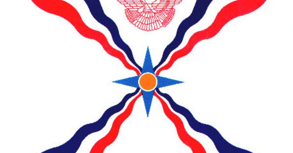 Assyrian Flag The Golden Circle In The Middle Is The Sun The Four Pointed Stars Surrounding The Sun Symbolizes The Land Its Flag Flags Of The World Wood Flag