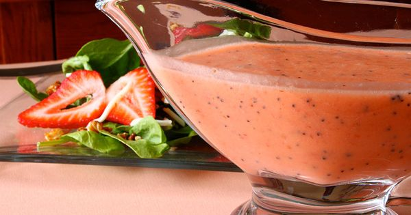 strawberry-poppyseed dressing.....perfect for summer salads.