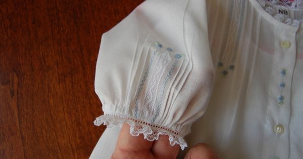 The Old Fashioned Baby Sewing Room Beautiful Sleeve Detail