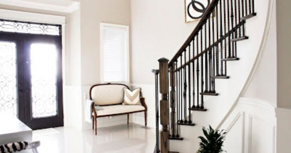 My Foyer Staircase Reveal : Am dolce vita painted staircase reveal foyer