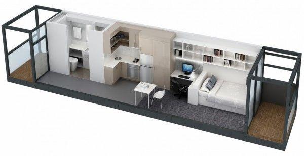 Studio Apartment Floor Plans Building A Container Home Studio Apartment Floor Plans Container House Plans